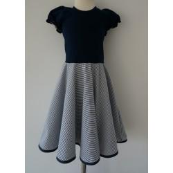 Šaty NÁMOŘNICKÉ, kolová sukně