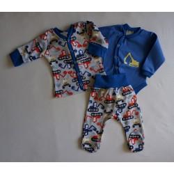 3dílná kojenecká souprava - bagry
