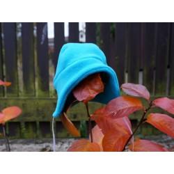 Kojenecká fleecová čepička - tyrkysová