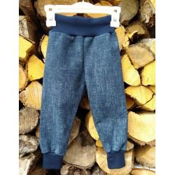 Tepláky - kalhoty JEANS s chloupkem