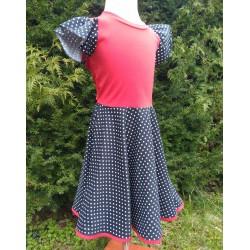 Šaty PUNTÍKY s kolovou sukní