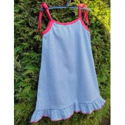 Šaty na ramínka - námořnické