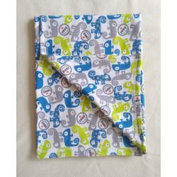 Dětská deka bavlněná - chameleoni