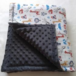 Dětská deka teplá zimní ZVÍŘÁTKA